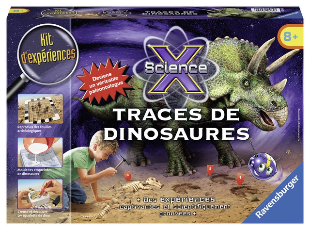 Sce X midi trace dinosaure coffret excavation